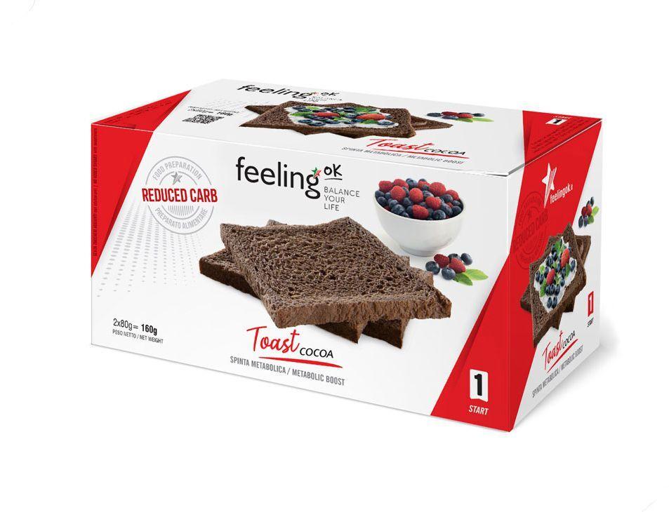 FeelingOK Protein Toast Kakao Start 1 160g