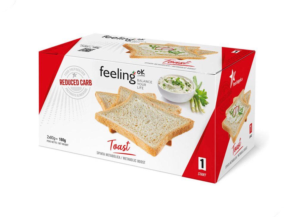 FeelingOK Protein Toast Natur Start 1 160g