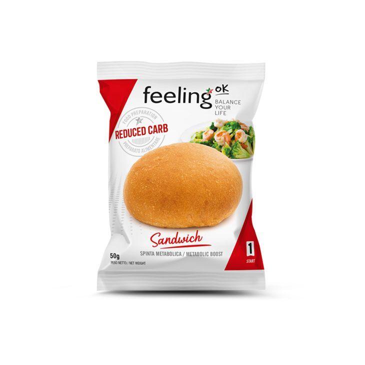 FeelingOK Protein Brötchen Sandwich Start 1 50g