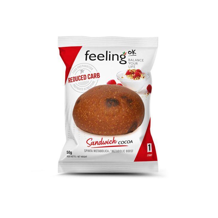 FeelingOK Protein Brötchen Sandwich Kakao Start 1 50g