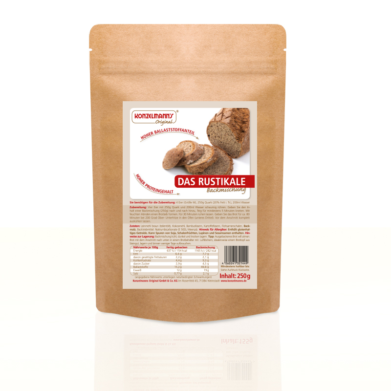 Das Rustikale Brot mit weniger Kohlenhydraten