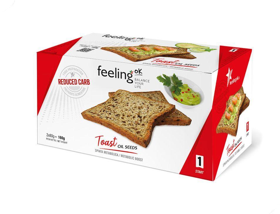 FeelingOK Protein Toast Ölsaaten Start 1 160g