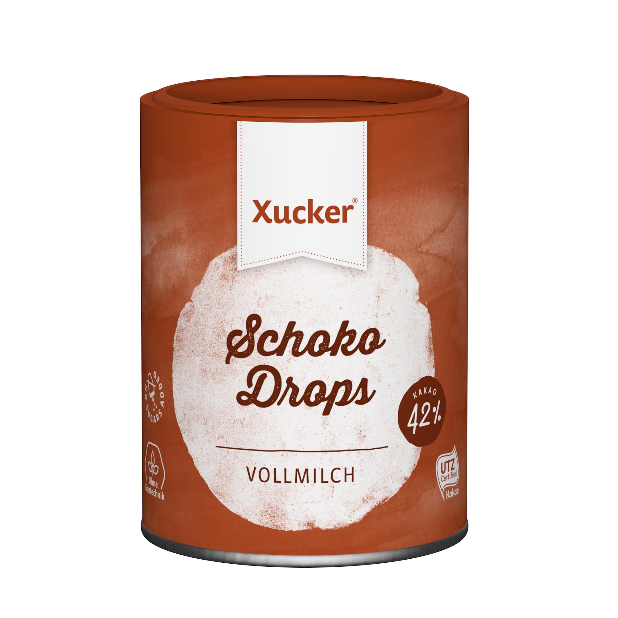 Xucker Schoko Drops Vollmilch 200g